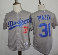 http://www.yjersey.com/dodgers-31-mike-piazza-grey-flexbase-jersey.html DODGERS 31 MIKE PIAZZA GREY FLEXBASE JERSEY Only 35.00€ , Free Shipping!