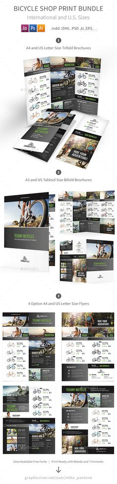 Finance And Business Tri Fold Brochure Template Psd A4 And Us