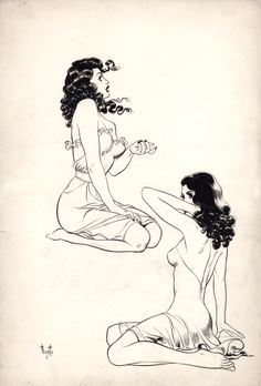 Frank Frazetta's sketches from the 40's.