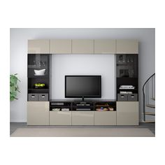 BestÅ Tv Storage Combination Glass Doors Bank Wall Mounted
