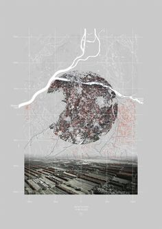 Gauthier Durey, 'Landscape urbanism interpretive mapping', 2015, Digital collage.