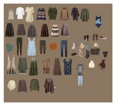 Anna's Wardrobe by mad-olive on Polyvore featuring Custommade, Mes Demoiselles..., Miss Selfridge, Forever 21, Tsumori Chisato, Duffy, Aubin & Wills, Splendid, Old Navy and H&M