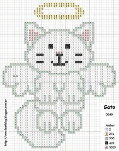 Cat cross stitch pattern