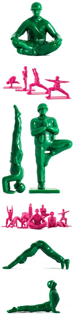 """""""Yoga Joes"""" by Dan Abramson. I bought a green set for my brother in the Army!"""