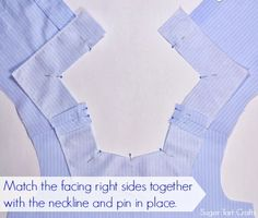 How to sew a simple neckline facing - Stitch and Pink Sewing Tools, Sewing Tutorials, Sewing Hacks, Sewing Projects, Sewing Ideas, Easy Sewing Patterns, Dress Patterns, Design Patterns, Pattern Cutting