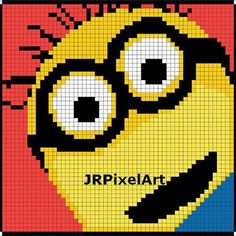 Minion Perler Template by JR Pixel Art