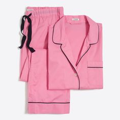7177ecf90 J Crew Factory Long-sleeve end-on-end pajama set