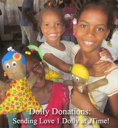 I've had the pleasure of working with lots of lovely ladies all around the world donating Dolls  made with my original Dolly Donations Fre...