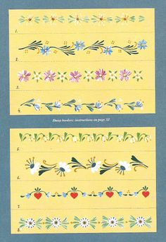 step-by-step Folk ART Flowers - senia One Stroke - Álbuns da web do Picasa