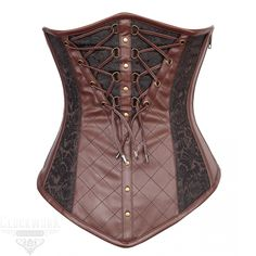 bece92253f7 This artful underbust stands far ahead of the curve with its sensation  steampunk flair and quality construction. The Steampunk Crisscrossed  Brocade ...