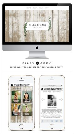 Rustic Wedding Websites to fit any wedding style or look. Design: Riley & Grey ---> http://www.rileygrey.com/invites/weddingchicks?utm_source=weddingchicks&utm_medium=pinterest&utm_campaign=novemberdecember2014