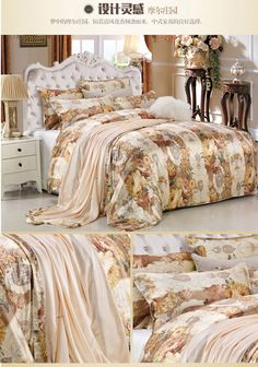 Silk bedding set with fashion prints