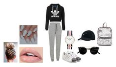 """""""Lazy day outfit💕"""" by emilieantonsen on Polyvore featuring Icebreaker, adidas Originals, Daniel Wellington and NIKE"""