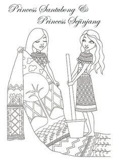 Legendary Princesses Of Malaysia Colouring Book