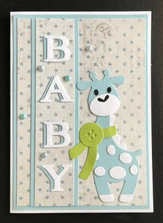 Baby Shower Cards Handmade, Greeting Cards Handmade, Baby Boy Cards, New Baby Cards, Scrapbook Cover, Scrapbook Cards, Marianne Design Cards, Spellbinders Cards, Kids Birthday Cards