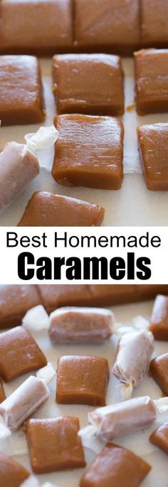 Homemade caramels are perfectly soft and chewy and so easy to make! | tastesbetterfromscratch.com