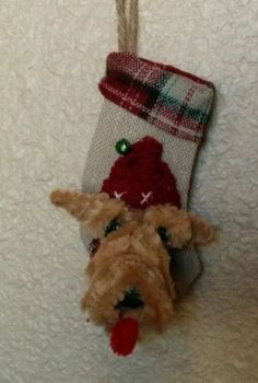 another awesome shot of this: Airedale-Lakeland-Welsh-Terrier-Handmade-Christmas-Stocking