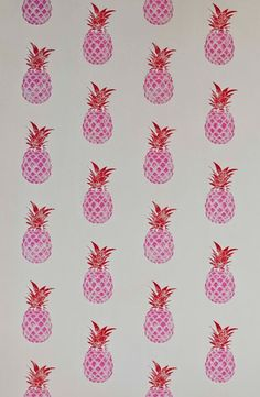 Completely fabulous Pineapple wallpaper pattern by Barneby Gates.