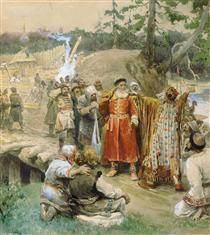 The development of new lands by Russian - Klavdy Lebedev