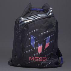 adidas F50 Messi Gym Bag - Football Bags - Luggage - Black-Matte Silver-Matte Silver