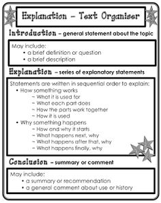 Explanation text organiser Classroom Treasures: Writing