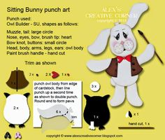 Alex's Creative Corner: Painter Bunny Easter Card
