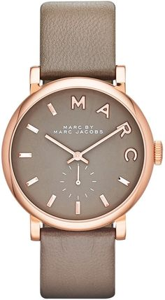 Marc by Marc Jacobs Watch, Women's Baker Gray Textured Leather Strap 37mm MBM1266 - First @ Macy's! - $195.00