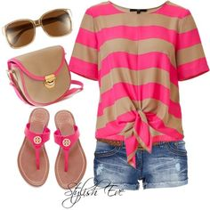@Siempre Elegante  Stylish Eve Outfits 2013: Beach Wear with Shorts, Perfect Out of Water Style