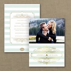 Stripes and Shine - Photo Save the Date Card - Save The Date Wedding Ideas - Save The Date Announcements Discount Wedding Invitations, Anniversary Invitations, Save The Date Invitations, Bridal Shower Invitations, Invites, Save The Date Photos, Save The Date Cards, Wedding Save The Dates, Our Wedding