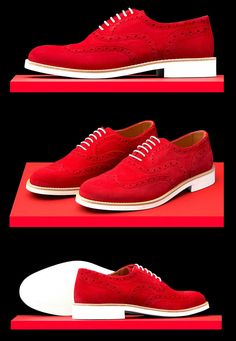 Red Suede Shoes, Leather Shoes, Men's Shoes, Mens Wingtip Shoes, Andrea Shoes, Big Men Fashion, Designer Socks, Derby Shoes, Swag Dress