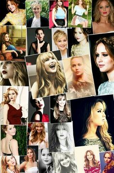 A collage i made of Jennifer Lawrence :)