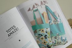 Tote Sewing Projects for Crafty magazine.