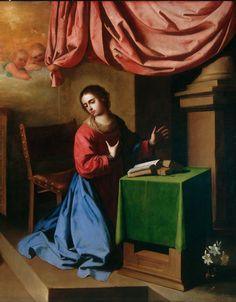 Francisco de Zurbarán - La Anunciación, 1650 (detail)