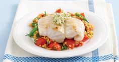The best Lemon fish with red lentil salad recipe you will ever find. Welcome to RecipesPlus, your premier destination for delicious and dreamy food inspiration. Red Lentil Salad, Lentil Salad Recipes, Lemon Fish, Fish Recipes, Healthy Recipes, Lemon Green Beans, Tomato Vegetable, Lentils, Food Inspiration