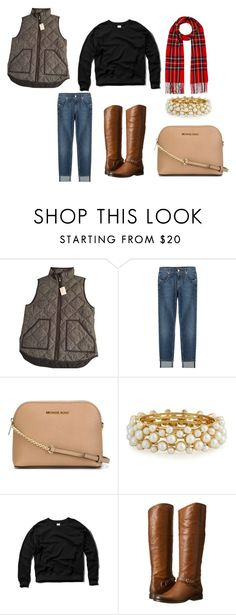 """""""Too Fall"""" by tasyajane on Polyvore featuring J.Crew, 7 For All Mankind, MICHAEL Michael Kors, R.J. Graziano, Abercrombie & Fitch, Frye and River Island"""