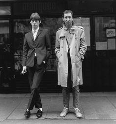 Paul Weller and Pete Townshend by Janette Beckman