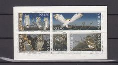 Owl post stamp Namibië.