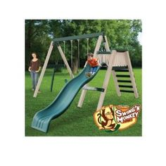 CONGO Swing'n Monkey Play Set - Green and Tan (Toy)