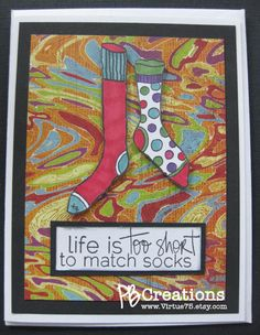 Life is Too Short Whimsical Friendship Card by Virtue75 on Etsy