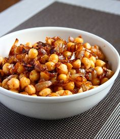 Pan-Fried Chickpeas with Caramelized Onions