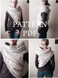 New PATTERN PDF - Pattern for DIY Panem Katniss Inspired Cowl - Two Looks - Easy Knitting Pattern - Instant Download - customizable sizes on Etsy, $9.99