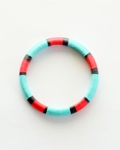 Ferris Wheel Thread Wrapped Bangle Bracelet / by The Glossy Queen
