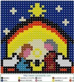 belen nacimiento en HAMA BEADS. , Perler Bead Patterns