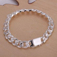 2015 new arrivel 925 sterling silver jewelry 10mm men's bracelet fine fashion top quality wholesale and retail SMTH032