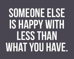 happy with less...