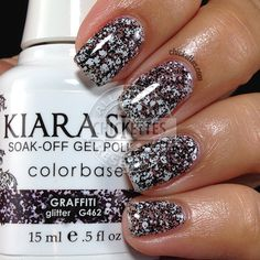 Kiara Sky is a new two-step gel polish from the makers of INK gel polish. Kiara Sky colorbase has the base and color mixed into one bottle. Kiara Sky Gel Polish, Glitter Gel Polish, Best Gel Nail Polish, Gel Polish Colors, Shellac Colors, Polish Nails, Nail Polishes, Sky Nails, Uv Gel Nails