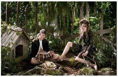 Tragic Fairytale Couple Photography : Jeff Bark for i-D Magazine