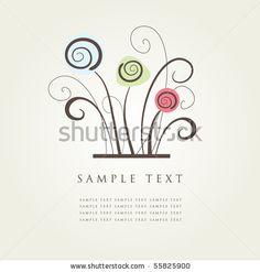 Abstract Floral Background. Ilustración vectorial en stock 55825900 : Shutterstock