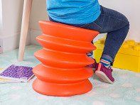 Kids can start building better sitting habits when they're young. This Made in the USA ergonomic stool encourages them to make small movements that help with circulation, breathing, and keeping their mind more alert. Unlike a stability ball, ErgoErgo looks cool and won't roll away.