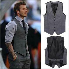 formal button up mens | New-Fashion-Mens-Formal-blazer-Suit-Tank-Top-Slim-Suit-Vests-Dress-for ...